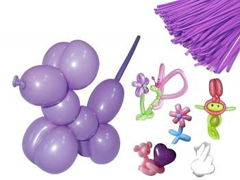 Italské modelovací balónky extra dlouhé FIALOVÉ, 1ks