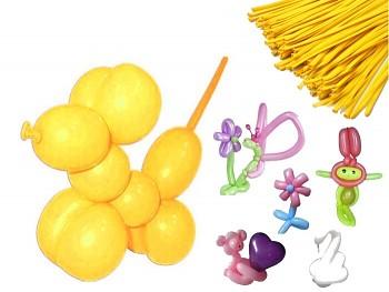 Italské modelovací balónky extra dlouhé ŽLUTÉ, 1ks
