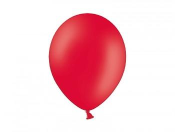 Nafukovací balónek ČERVENÝ 27cm pastelový extra pevný