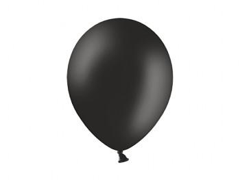 Nafukovací balónek ČERNÝ 13cm pastelový extra pevný