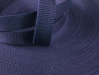 Popruh polypropylénový šíře 20mm TMAVĚ MODRÝ, á 1m