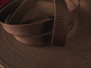 HNĚDÝ  popruh polypropylénový šíře 20mm PP popruh 2cm