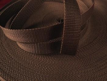 HNĚDÝ popruh polypropylénový šíře 20mm PP popruh 2cm, á 1m
