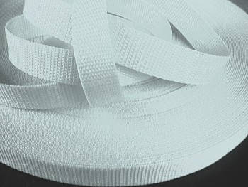 BÍLÝ popruh polypropylénový šíře 25mm PP popruh 2,5cm, á 1m
