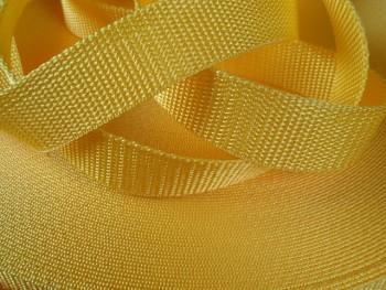 Popruh polypropylénový šíře 25mm ŽLUTÝ