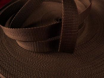 HNĚDÝ popruh polypropylénový šíře 25mm PP popruh 2,5cm á 1m