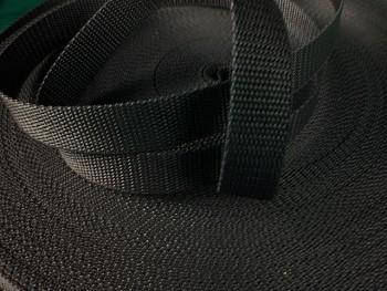 ČERNÝ popruh polypropylénový šíře 25mm PP popruh 2,5cm