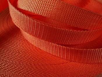 ORANŽOVÝ popruh polypropylénový šíře 15mm PP popruh 1,5cm