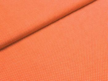 Puntíkovaná látka oranžová mikro, á 1m