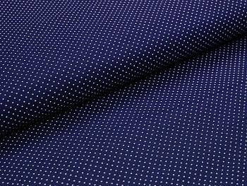 Puntíkovaná látka modrá tmavě mikro, á 1m