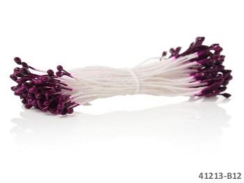 TMAVĚ FIALOVÉ Květinové pestíky k výrobě květů, vývazků