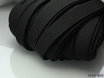 ČERNÁ plochá guma pruženka široká 7mm, 1 nebo 150m
