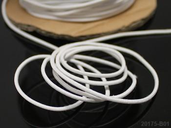 BÍLÁ guma kulatá klobouková 1,3mm pruženka, á 1m