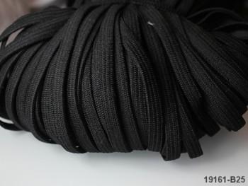 ČERNÁ pruženka guma prádlová 8mm - 1 nebo 100m