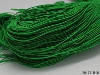ZELENÁ TRÁVA guma kulatá klobouková 1mm pruženka, 3m nebo 27m