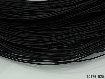 ČERNÁ guma kulatá klobouková 1mm pruženka, 3m nebo 27m