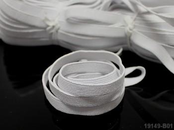 BÍLÁ prádlová guma pruženka 8mm, 1 nebo 25m