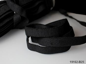ČERNÁ plochá guma pruženka široká 10mm, 1 nebo 50m
