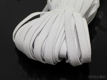 BÍLÁ plochá guma pruženka široká 10mm, 1 nebo 50m