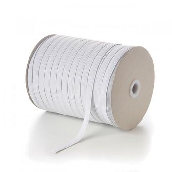 BÍLÁ pruženka guma tkaná prádlová 5mm SUPER KVALITA , á 1m