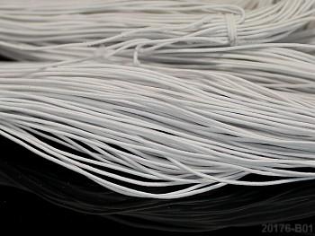 BÍLÁ guma kulatá klobouková 1mm pruženka, 3m nebo 27m