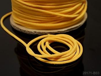 ŽLUTÁ  guma kulatá 2,5mm pruženka,  á 1m