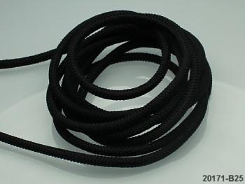 ČERNÁ  guma kulatá 2,5mm pruženka,  á 1m