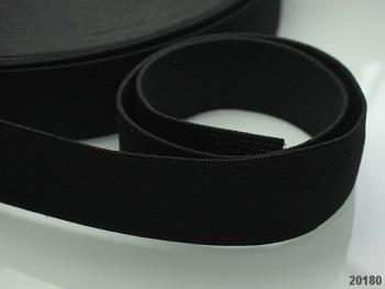ČERNÁ pruženka guma plochá široká 35mm, 1 nebo 25m