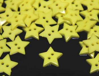 ŽLUTÉ knoflíky HVĚZDY hvězdičky, 1ks