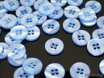 MODRÉ SVĚTLE perleťové knoflíky košilové, bal. 5ks