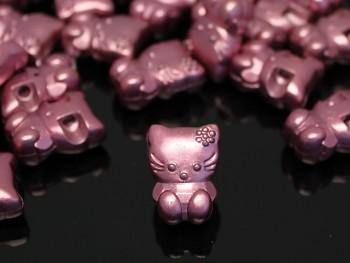 Růžové HELLO KITTY knoflíky velké metalické,  á 1ks