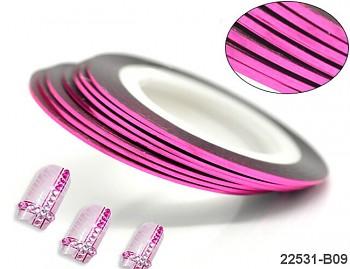 RŮŽOVÁ CYKLÁM lepící páska dekorační samolepící proužek
