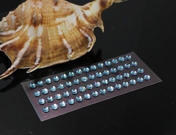 MODRÉ SVĚTLE samolepící kamínky 6mm