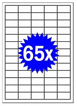 Samolepící etikety A4 - 65ks - do všech tiskáren