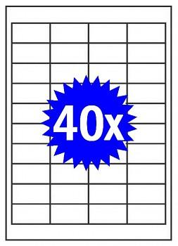 Samolepící etikety A4 - 40ks - do všech tiskáren