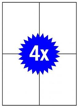 Samolepící etikety A4 - 4ks - do všech tiskáren