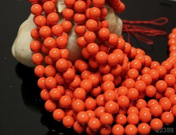 Přírodní PERLEŤ, leštěné perly Ø 8mm výběrové AA kvality lososové, bal. 2ks
