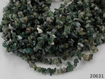 ZELENÝ Přírodní minerál MECHOVÝ ACHÁT, chipsy