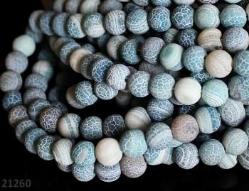 MODRO-ZELENÝ ACHÁT dračí kuličky 8mm přírodní minerál