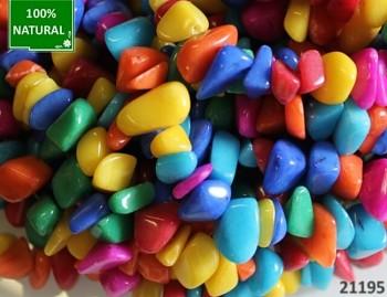 Pestrobarevný jadeit valounky přírodní minerál