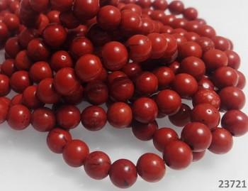 Přírodní JASPIS červený kuličky 6mm
