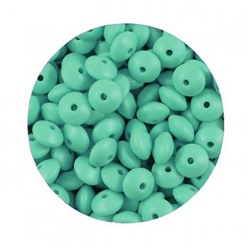 ZELENÉ silikonové korálky 9mm rondelky ze silikonu