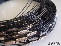 Černá obruč na náhrdelník lanko se šroubkem náhrdelník