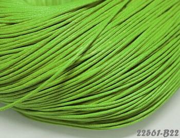 ZELENÁ LIMETKOVÁ voskovaná šňůrka 1,5mm bižuterní návlekový materiál, svazek 5m