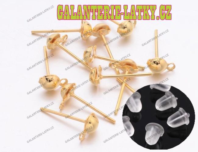 abf2b6ee3 Náušnicové puzety 12/6 zlaté + zarážky