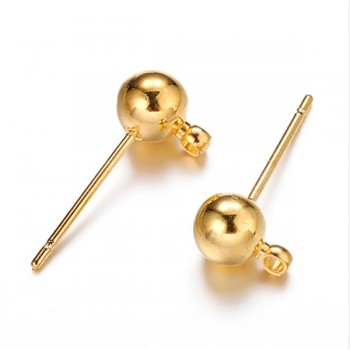Náušnicové puzety kuličky zlaté