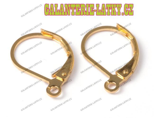 Zlaté náušnice kroužky 15 10 náušnicový bižuterní komponent c74940bab1