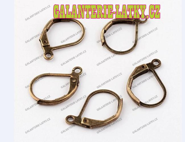 Bronzové náušnice kroužky 15 10 náušnicový bižuterní komponenty 28aace2f2f