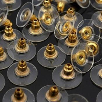 Náušnicové zarážky k náušnicím kulaté zlaté, á 1ks