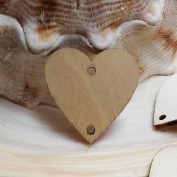 Přírodní dřevěný přívěšek SRDCE SRDÍČKO dřevěné korálkování